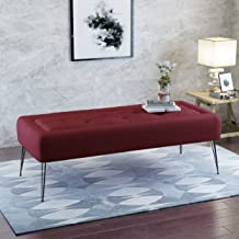 Christopher Knight Home Zyler Tufted Deep Red Fabric Ottoman