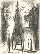 """Pablo Picasso""""The Artist and his Model II"""" original lithograph"""