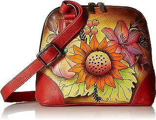 Anna by Anuschka Organizer Handbag | Genuine Leather | Denim Paisley Floral