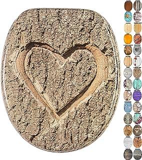 Abattant WC - Grande sélection de abattants wc en bois - Finition de haute qualité (L`Amour vrai)