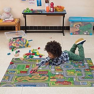 Carpet Studio Alfombra Infantil Suave al Tacto para Niño y Niña, Respaldo de látex Antideslizante, Fácil de Mantener, Sin peligro para niños y animales, Playcity, 95x133cm