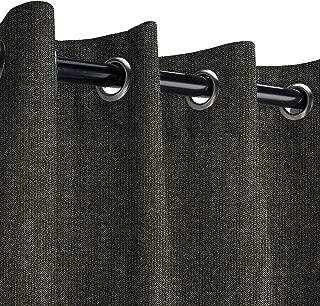 Sunbrella Spectrum Carbon Outdoor Curtain with Nickel Grommets 50 in. Wide x 84 in. Long