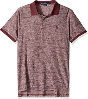 Men's Classic Fit Solid Short Sleeve Poly Pique Shirt