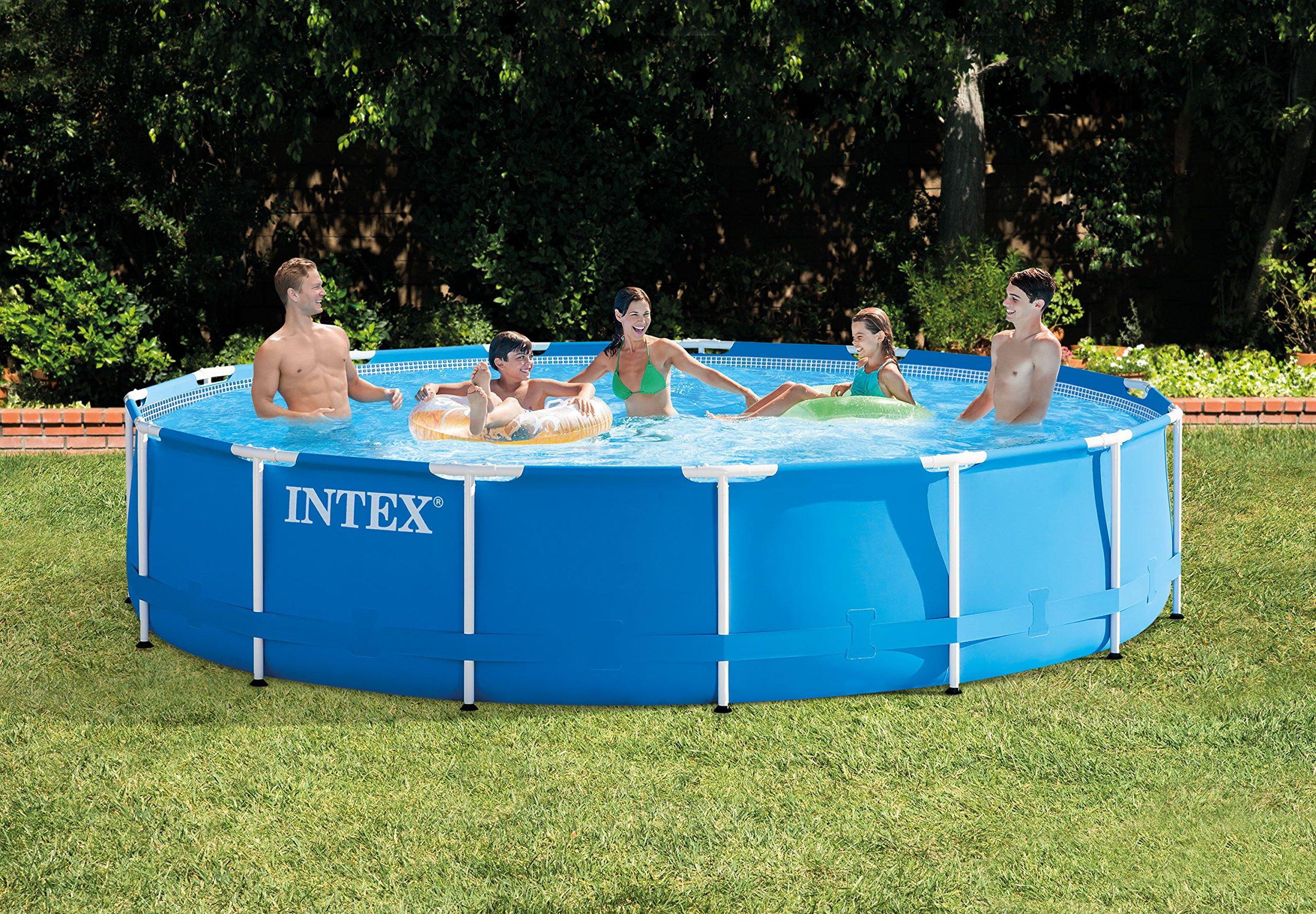 Intex Metal Frame Pool Set - Piscina, 457 x 84 cm, Color Azul ...