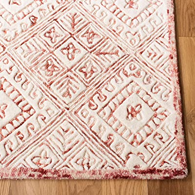 Safavieh Glamour Collection GLM660U Handmade Wool Area Rug, 8' x 10', Pink/Ivory