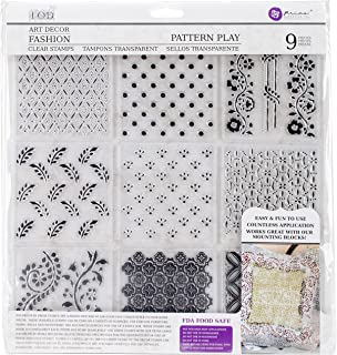 Prima Marketing Iron Orchid Designs Decor Clear Stamps -Pattern Play, 12