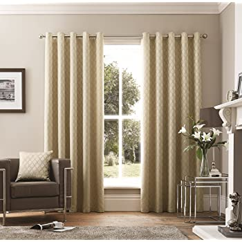Curtina Valda Natural Pencil Pleat Curtains Natural 229 x 229cm