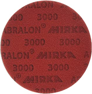 Mirka 8A-241-3000 Abralon 6 3000 Grit Foam Backed Velcro Hook & Loop Polishing & Buffing Discs 8A-203-3000 Box of 20 Discs