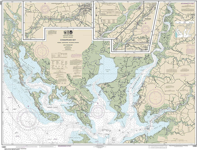 Weekly update NOAA Chart Las Vegas Mall 12261 Chesapeake Bay Nanticoke Wicomico River Honga