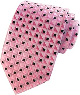 Elfeves Men's Classic Geometry Jacquard Woven Ties Formal Party Suit Neckties