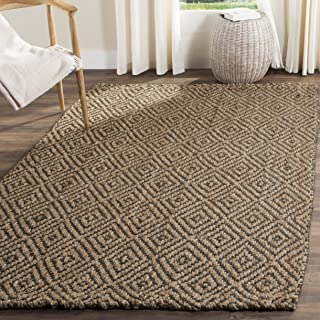 Safavieh Natural Fiber Collection NF181D Hand Woven Natural and Grey Jute Area Rug (8' x 10')