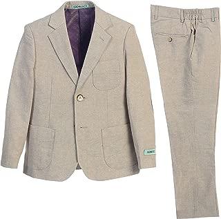 Boy's Linen Suit Set Jacket and Dress Pants