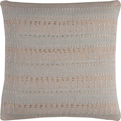 White 20 x 20 PILT11419WH002020 20 x 20 Rizzy Home Decorative Poly Filled Throw Pillow