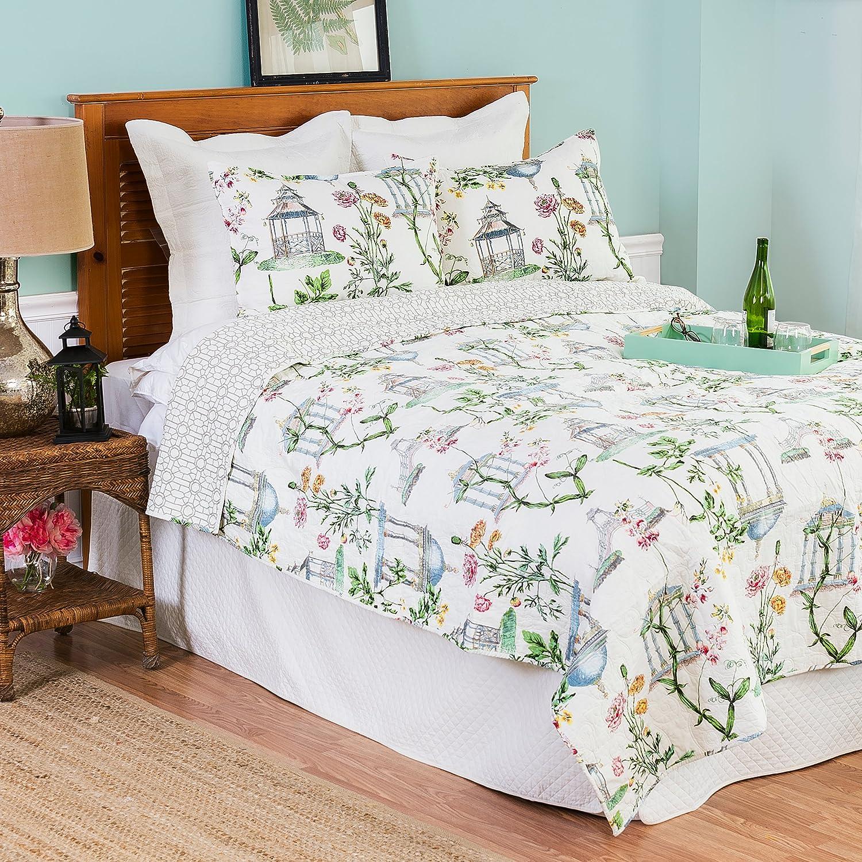 C&F Home Garden Folly Williamsburg Queen Size 3 Pc Quilt Set