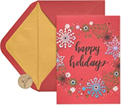 Papyrus Contemporary Wreath Boxed Holiday Cards, 14-Count