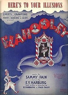 """Barbara Cook""""FLAHOOLEY"""" Yma Sumac/E. Y.""""Yip"""" Harburg/Sammy Fain 1951 Broadway FLOP Sheet Music"""