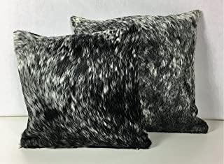 Best Gaucho Cowhides Snowie Black & White Genuine Cowhide Pillow Cover - 16x16 Inches or 20x20 Inches (20x20) Review
