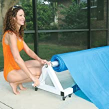 Deluxe Low Profile In Ground Pool Solar Cover Reel - 21-24 Feet Wide