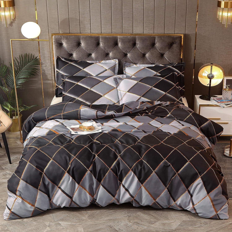 Outlet sale feature Ayruame Classic Diamond Pattern Duvet Max 85% OFF King Set 104