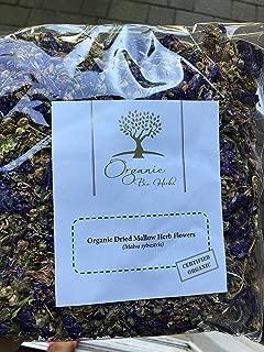 Organic Bio Herbs-Organic Dried Mallow Herb Flowers (Malva Sylvestris) 3 Oz.