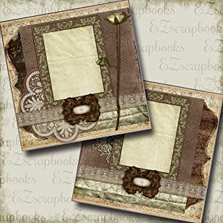 Vintage - Premade Scrapbook Pages - EZ Layout 3342