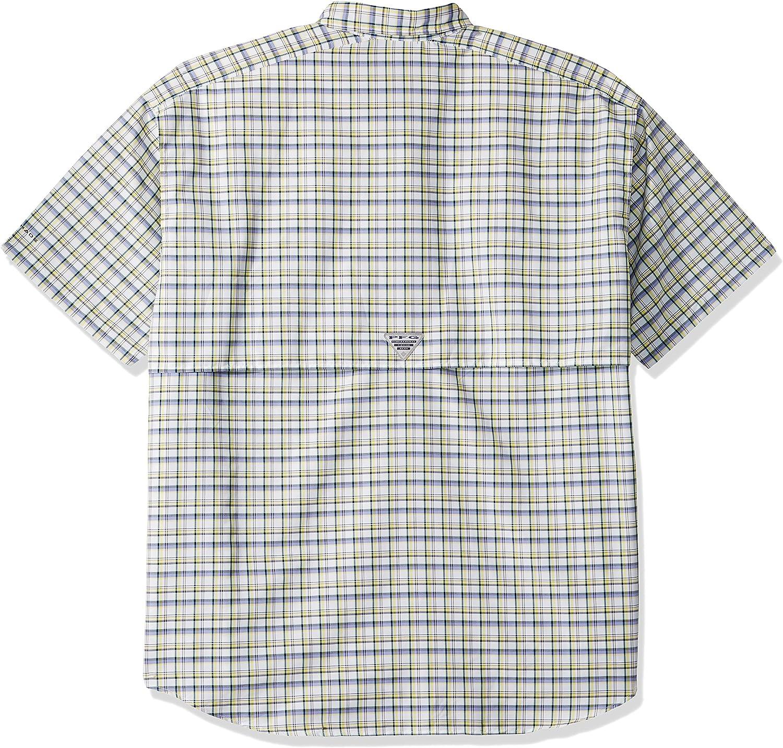 UV Protection Breathable Columbia Mens PFG Super Bahama Short Sleeve Shirt