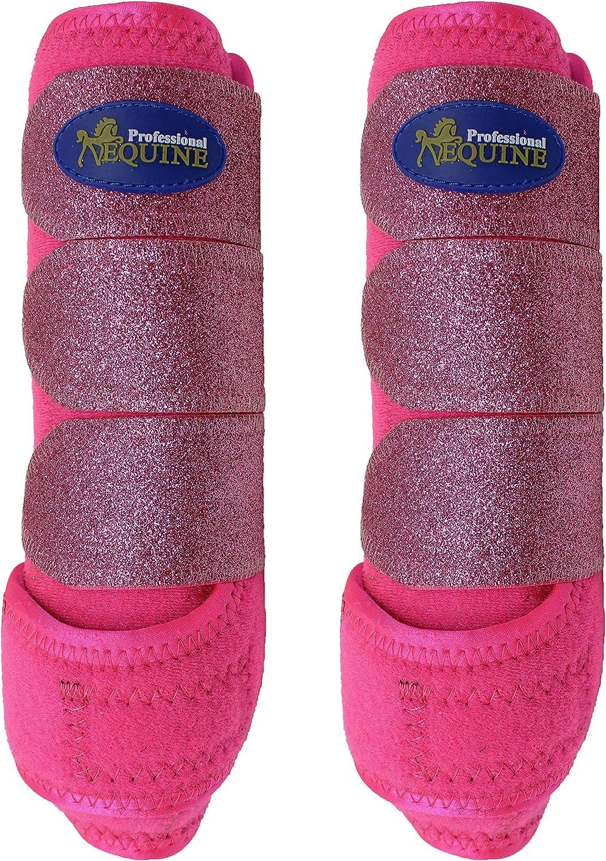 Professional Equine Horse Medium Sports Medicine Splint Boots Glitter 4138A