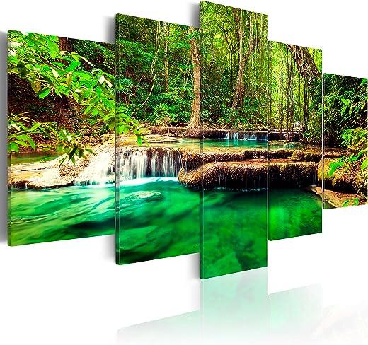 murando – Bilder 200×100 cm Vlies Leinwandbild 5 TLG Kunstdruck modern Wandbilder XXL Wanddekoration Design Wand Bild – Wasserfall Natur Landschaft…