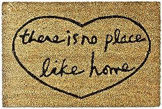 Relaxdays There is no Place Like Home – Felpudo para la Entrada de su hogar Hecho de Fibras de Coco y PVC con Medidas 40 x...