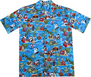 Snowman in Paradise Fun Christmas Hawaiian Shirt