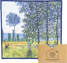 Extra Large [6 Pack] Classic Art(Claude Monet Sunlight Effect Under The Poplars)-Ultra Premium Quality Clean & Clear Microfiber Cleaning Cloth(Best for Camera Lens, Glasses, Screens)