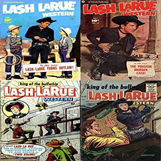 Lash Larue Western. Issues 17, 18, 51 and 54. King of the Bullwhip. Features Lash Turns outlaw and the pension murder case. Digital Sky Comic Compilations Wild West Western