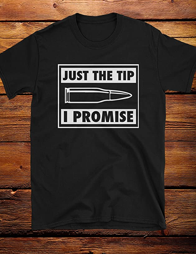 Just The Tip Funny Bullet Men's Tee Shirt
