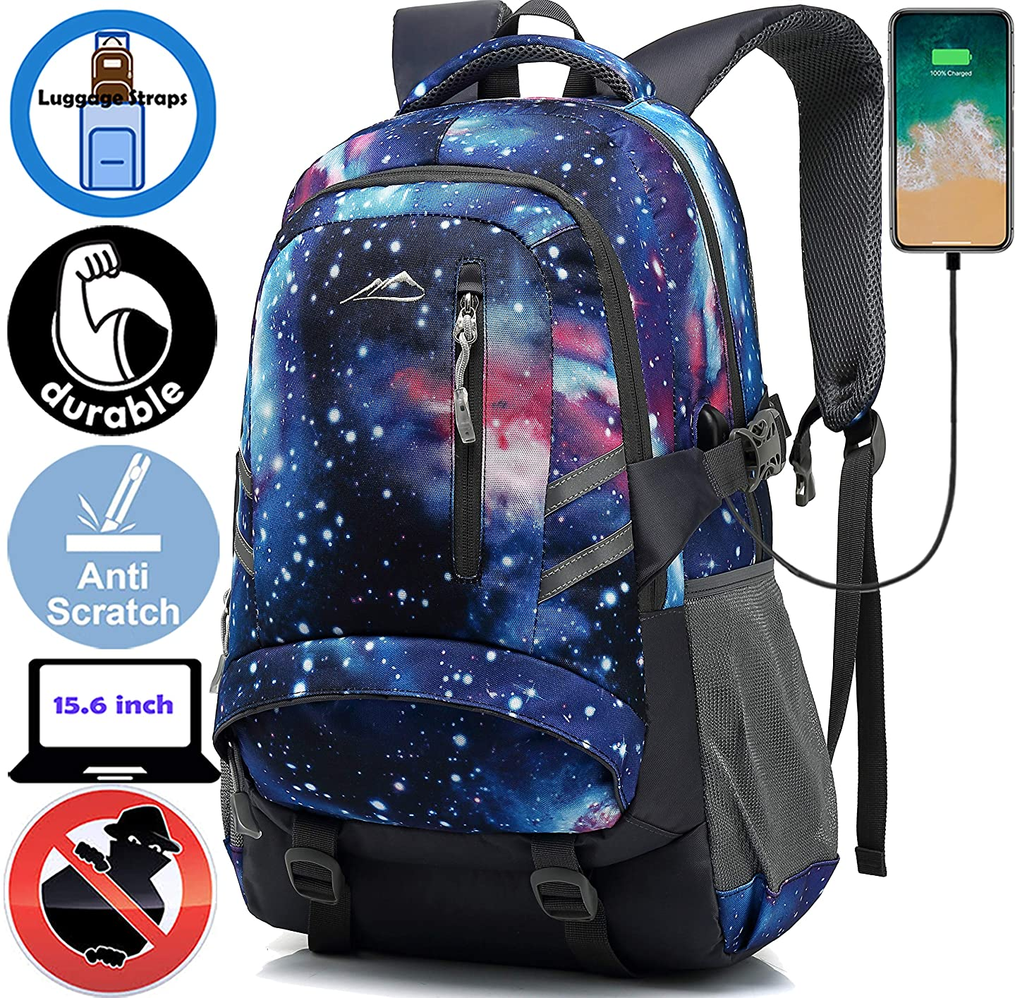 Backpack Bookbag for School Student College Business Travel Hiking Fit Laptop Up to 15.6 Inch