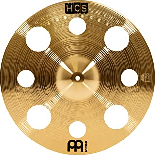 """Meinl 16"""" Trash Crash Cymbal with Holes – HCS Traditional Finish Brass for Drum Set, Made In Germany, 2-YEAR WARRANTY (HCS16TRC)"""