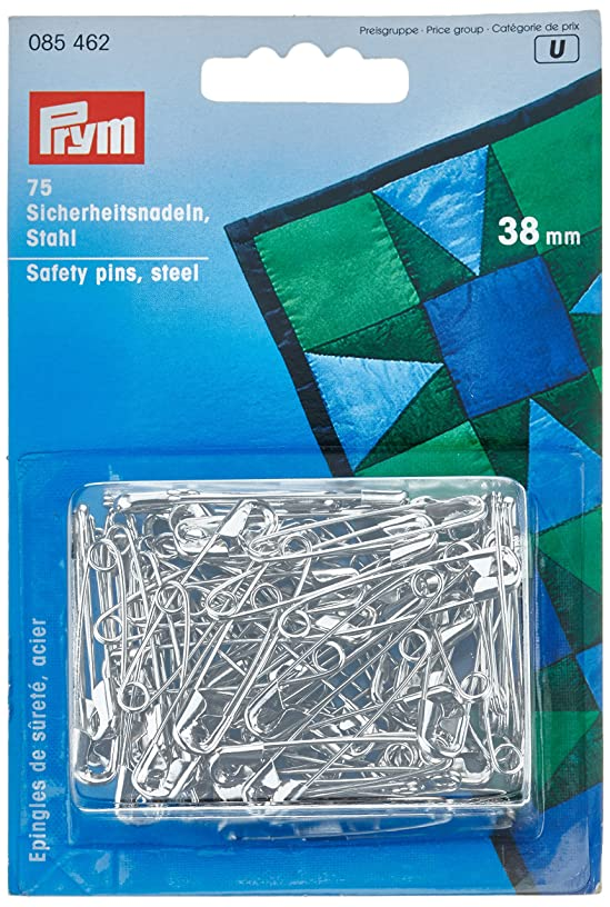 PRYM 38 mm Safety Pins with Coil, Silver