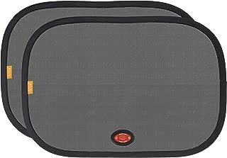 Munchkin Brica Cling Pop Open Window Shade with Heat Alert, Helps Block UVA/UVB Rays, Black