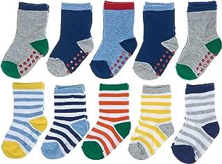 Joe Fresh Baby Boy Stripes, Heel/Toe Accents Crew 10-Pack