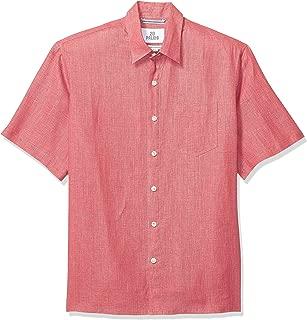 28 Palms Men's Relaxed-Fit Short-Sleeve 100% Linen Shirt