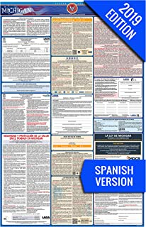 2019 Michigan (Spanish) Labor Law Poster – State, Federal, OSHA Compliant – Single Laminated Poster