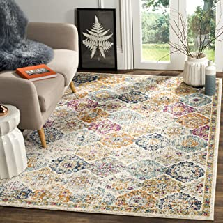 Safavieh Madison Collection MAD611B Cream And Multicolored Bohemian Chic Distressed Area Rug 3 X