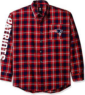 New England Patriots Wordmark Basic Flannel Shirt Medium