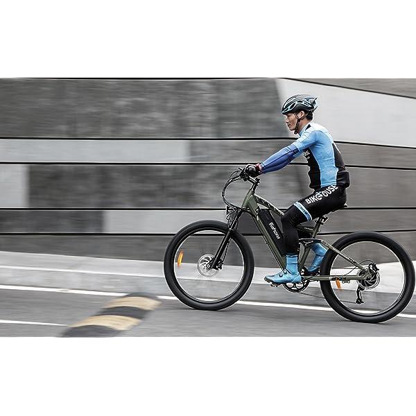 eAhora APUS 26in Carbon Fiber Electric Mountain Bike Dude riding