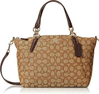 Outline Signature Canvas Small Kelsey Handbag with Removable cross-Body strap