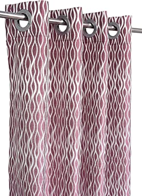 Homesoft Curtain Luxury 3136(Wine)(Pack of 1 pc) 7 Ft X 4 Ft