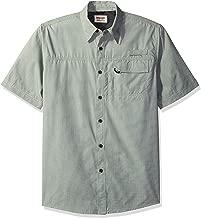 تي شيرت رجالي ذو أكمام قصيرة من Wrangler Authentics -  Short Sleeve Woven Utility Shirt X-Large