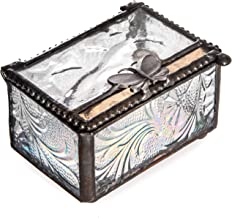 Butterfly Trinket Box Glass Jewelry Keepsake Display Decorative Boxes Nature Themed Home Décor Knick Knacks Collectibles Gift Trinket Dish Ring Holder Box 861