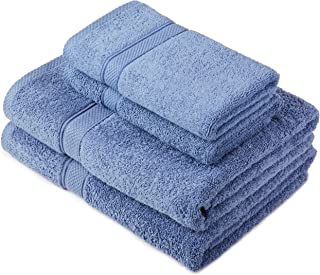 Pinzon by Amazon - Egyptian Cotton Towel Set, 2 Bath and 2 Hand Towels - Wedgewood, 600gsm