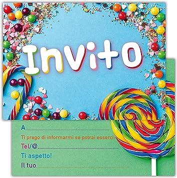 Top Partycards Set di 12 inviti Compleanno Biglietti invito per Festa AJ42