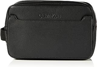 Calvin Klein Sliver Washbag, Men's Wallet, Black (Black/Steel Blue), 1x1x1 cm (W x H L)
